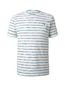 space dye striped tshirt - 22375/teal spacedye str