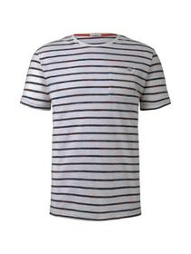 space dye striped tshirt - 22377/red spacedye stri