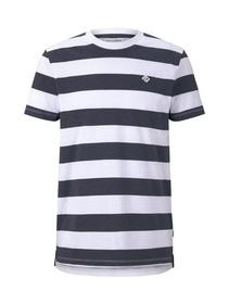 striped T-shirt w. small print