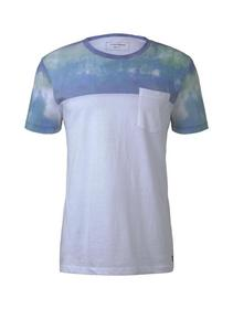cutline T-shirt with printmix