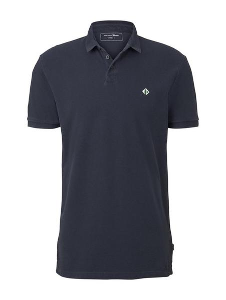 washed polo with print