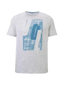 t-shirt with sporty prints - 11077/Blanc De Blanc