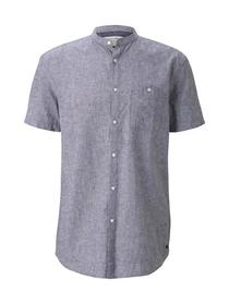 short sleeve linen mix shirt