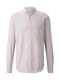 longsleeve cotton linen shirt - 11329/Fog Beige