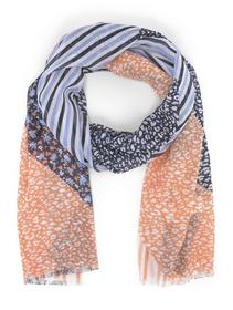 scarf printed with fringes - 22195/fruity melon or