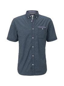ray slub holiday print shirt