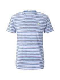 multicoloured stripe t-shirt
