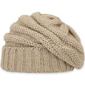 Oversize Mütze mit Fleecefutter