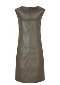 Leder-Look-Kleid