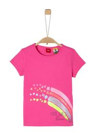 Jerseyshirt mit Glitzer-Print