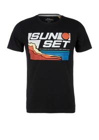 T-Shirt kurzarm - 99A1/black AOP