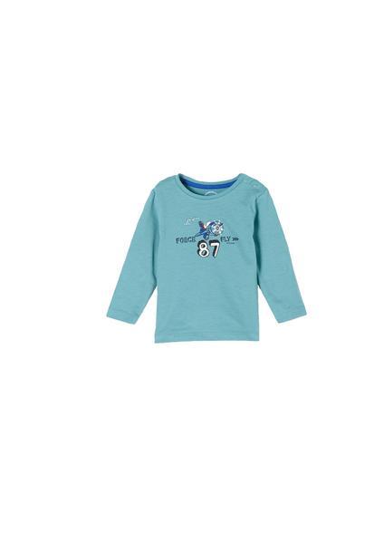 T-Shirt langarm - 6122/aqua