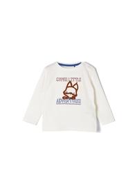 T-Shirt langarm - 0210/Ecru