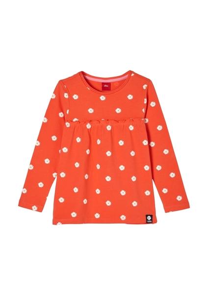 T-Shirt langarm - 25A7/orange AOP
