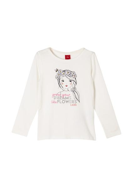 T-Shirt langarm - 0210/off-white