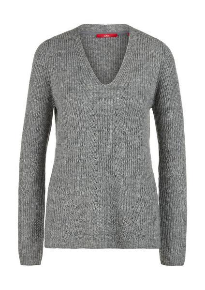 Pullover langarm - 97X0/grey knit