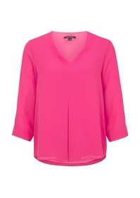Bluse 3/4 Arm - 4466/deep pink