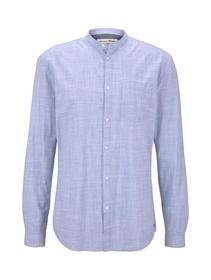 cotton slub shirt with turn up
