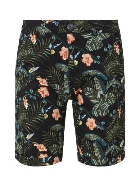tropical print chino shorts