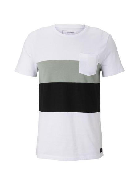 T-shirt with fabricmix