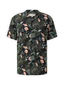 botanical printed hawai shirt