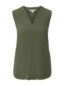 sleeveless v-neck tunic