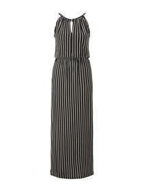 striped neckholder dress - 22712/black white strip