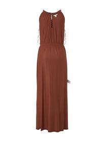 striped neckholder dress - 22713/rust black stripe