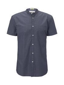 cotton jacquard shirt - 22597/navy dobby dot struc