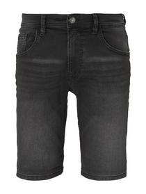 regular sweat denim shorts, black denim                   Grey,