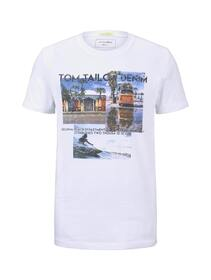 T-shirt with fotoprint, White