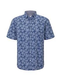 ray seersucker printed shirt