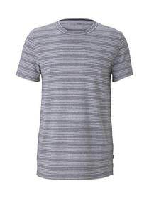 T-shirt with stripy structure