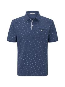 allover printed polo
