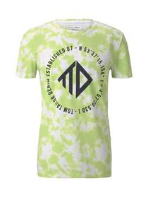 T-shirt w.batik alloverprint - 23832/neon white ba