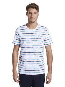 printed stripes t-shirt - 23434/white small watery