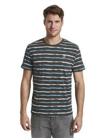 printed stripes t-shirt - 23437/grey small watery