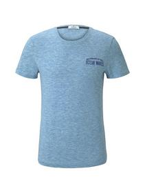 t-shirt multicolor - 23433/teal coloured melange