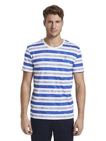 printed stripes t-shirt - 23438/white bold watery