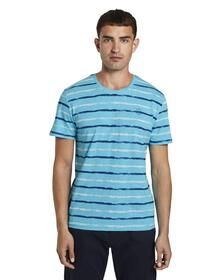printed stripes t-shirt - 23435/teal small watery