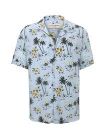 patterned viscose hawaii shirt