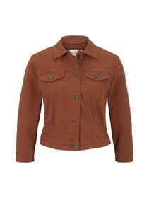 cropped color denim jacket