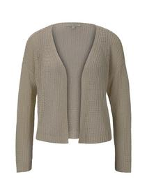 open knit cardigan - 22515/soft creme beige