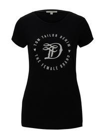 basic jersey print tee - 14482/Deep Black