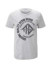 T-shirt with coinprint - 15398/Light Stone Grey Me