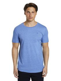 structured T-shirt with print, water sport blue