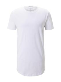 T-shirt with woven badge - 20000/White