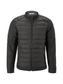 hybrid faux leather jacket