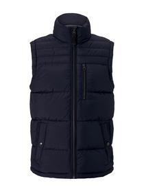 padded vest, Sky Captain Blue