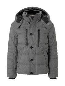 puffer jacket - 18849/grey brushed wool optic